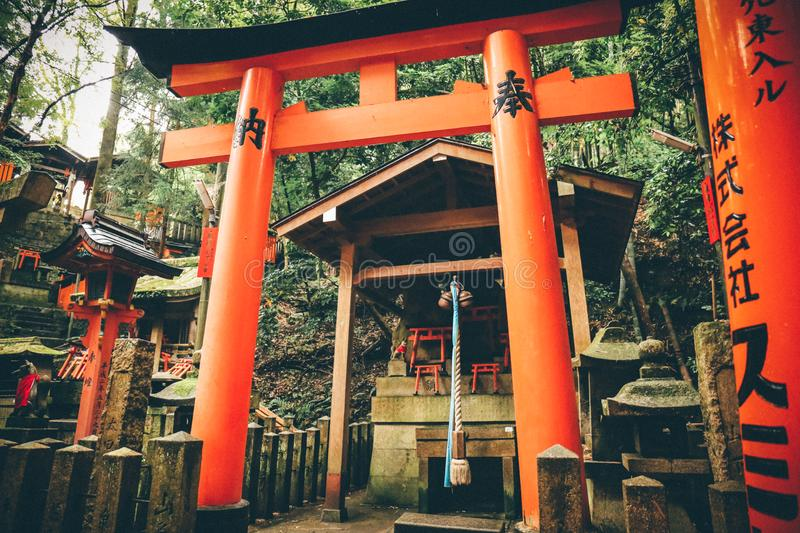 Kibitsu,Thousands of this academic,Japan. Photo taken during a solo trip to Janpan last year.There are countless birdhouses(or Thousands of this stock image