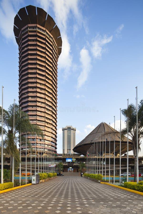 KICC budynek w Nairobia, Kenja, artykuł wstępny obraz stock