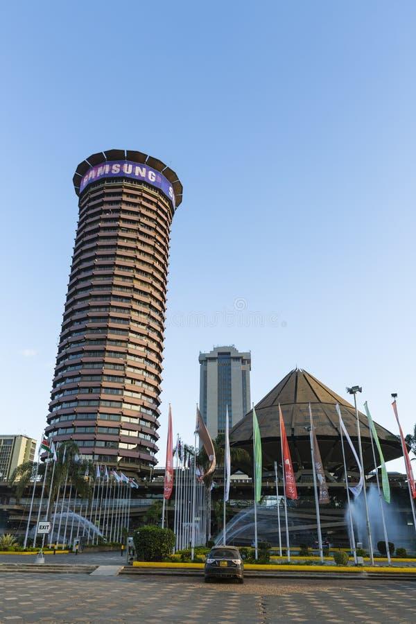 KICC-byggnad i Nairobi, Kenya, ledare royaltyfria bilder