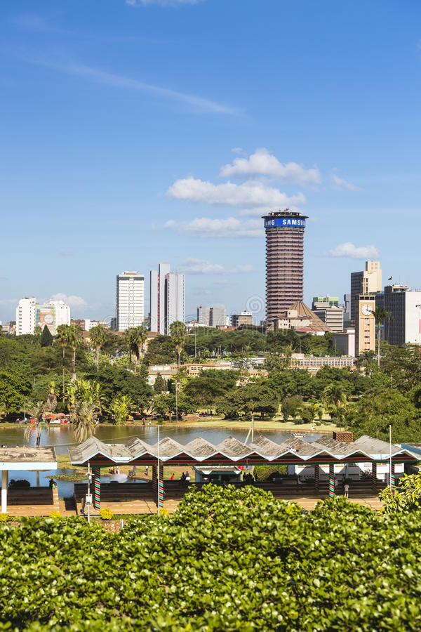 KICC-byggnad i Nairobi, Kenya, ledare arkivfoto