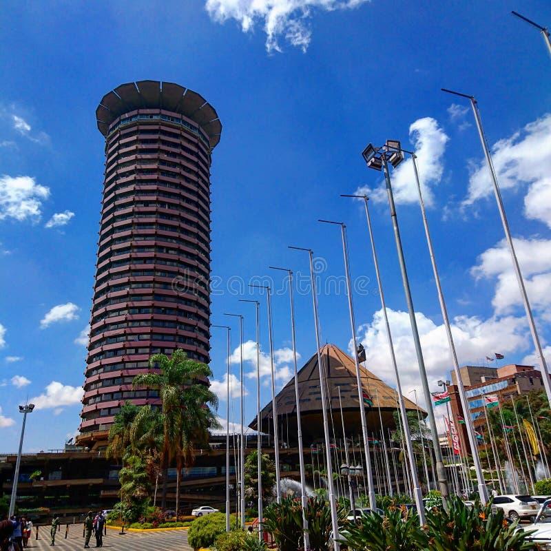 KICC-de Bouw in Nairobi, Kenia stock foto
