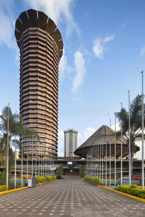 KICC-Gebäude in Nairobi, Kenia lizenzfreie stockfotografie
