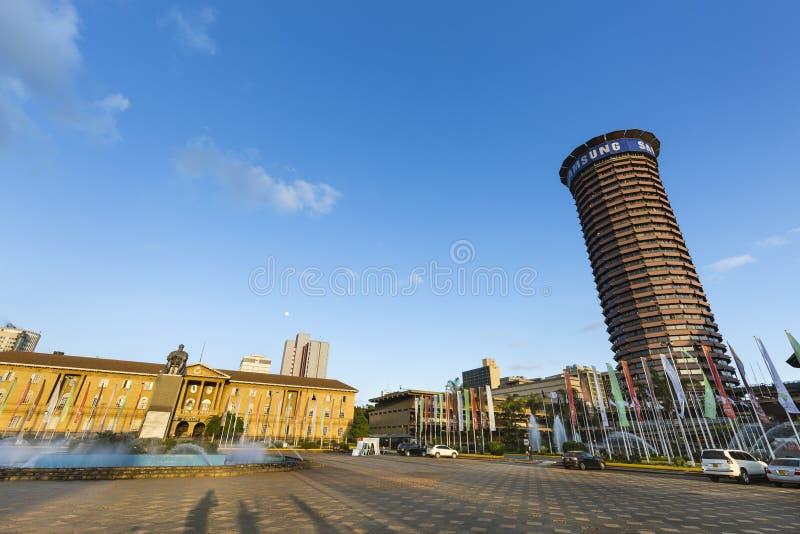 KICC i sąd najwyższy w Nairobia, Kenja, artykuł wstępny obrazy stock