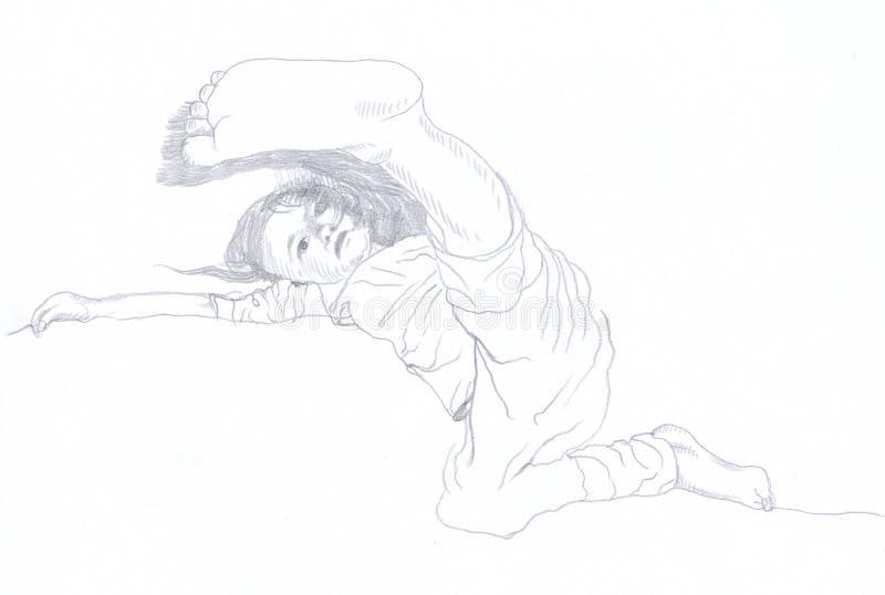 Download Kick stock illustration. Illustration of face, drawing - 23260291