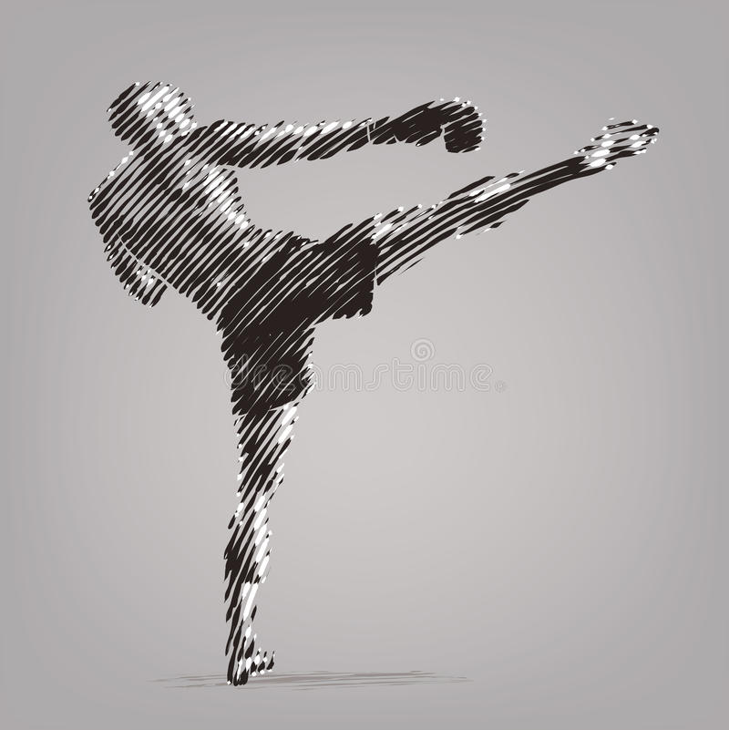 Kick boxer. royalty free illustration