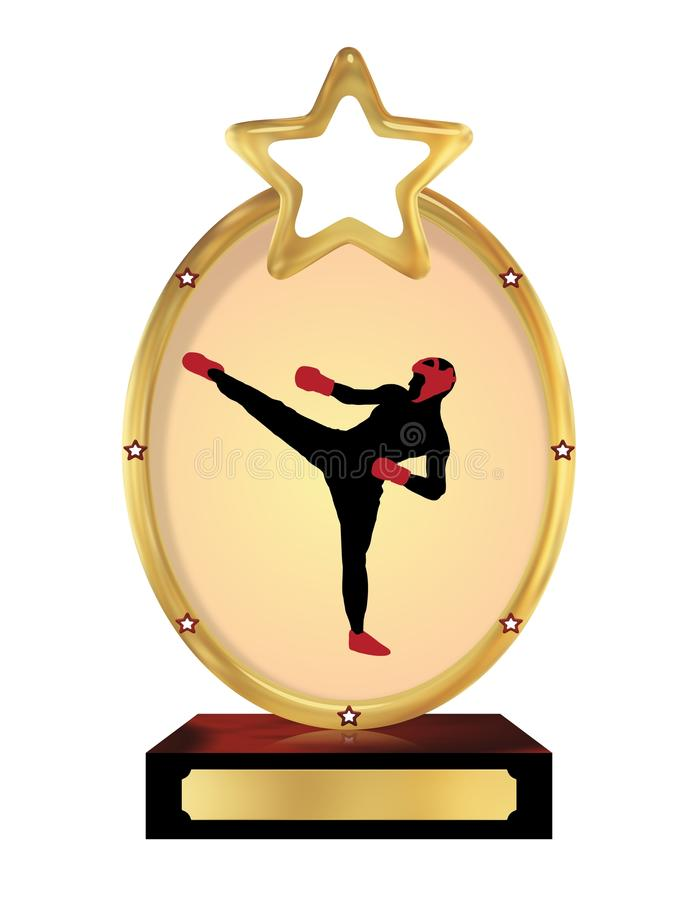 Kick boxing Trophy