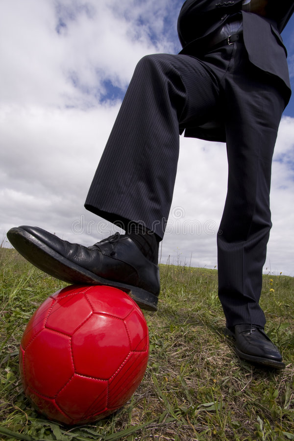 The kick off royalty free stock image