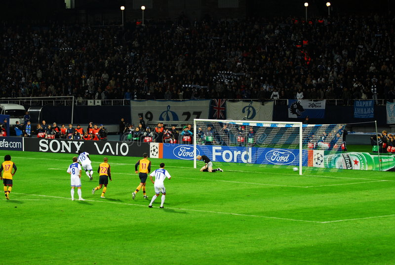 kick penalty scoring στοκ φωτογραφία με δικαίωμα ελεύθερης χρήσης