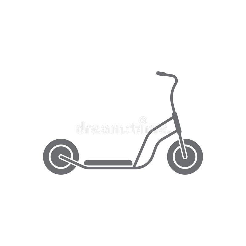 Kick scooter icon. Simple element illustration. Kick scooter symbol design from Transport collection set. Can be used for web and. Mobile on white background royalty free illustration