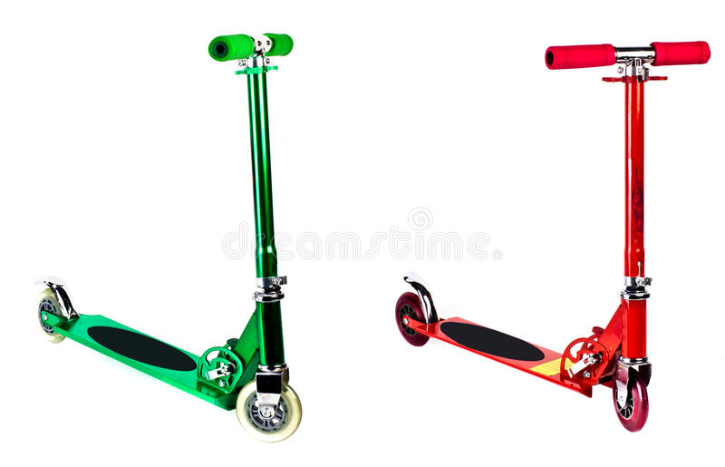 Kick Scooter. Isolated with clipping path. royalty free stock image