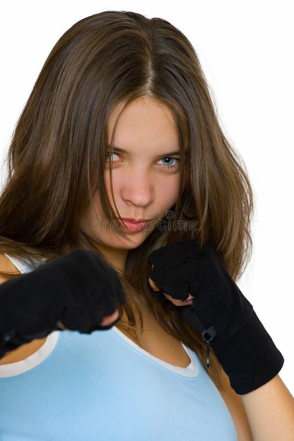 kickbox de fille photo libre de droits