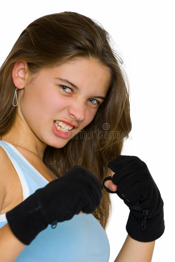 Download Kickbox girl stock image. Image of active, fight, blonde - 6568333