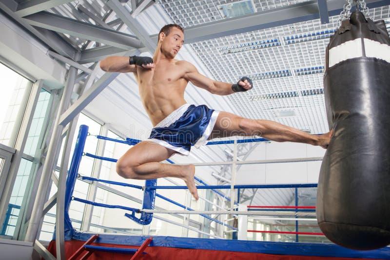 Kickboxer. royalty-vrije stock fotografie