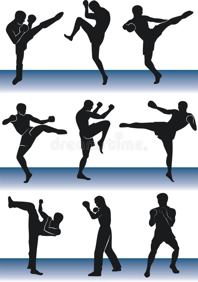 kickboxer illustration de vecteur