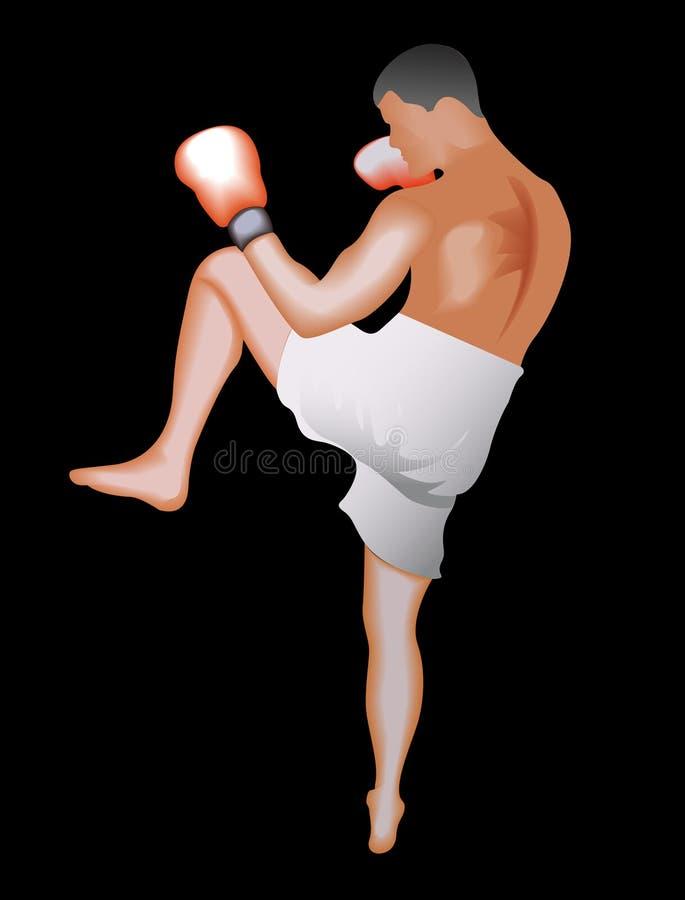 Kickboxer royalty-vrije illustratie