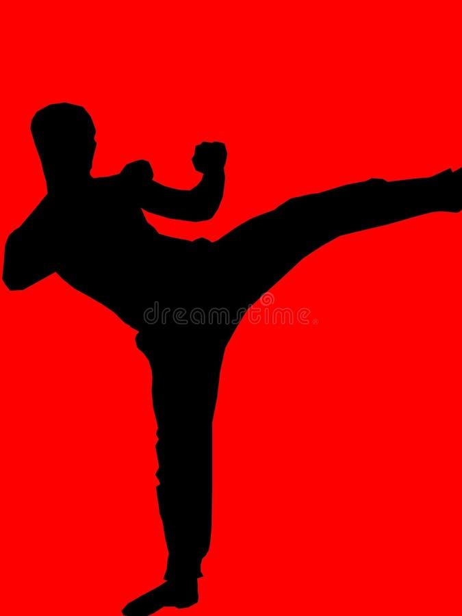 Kickboxer - red stock illustration