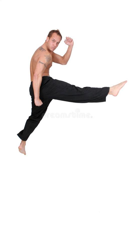 kickboxerman arkivbild