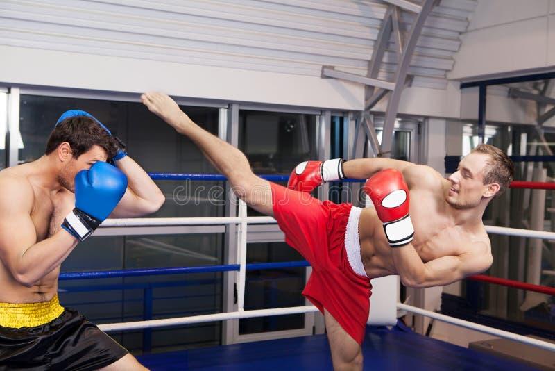 kickboxing的人。 免版税图库摄影