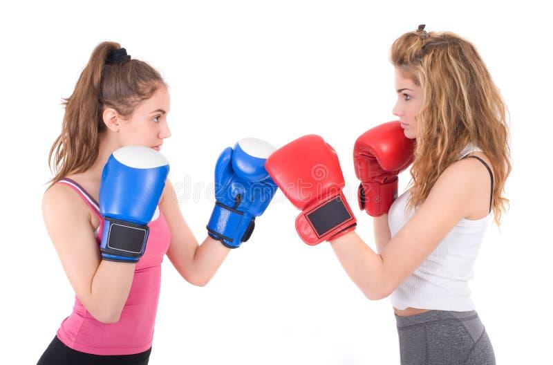 Kickboxing dziewczyn walka zdjęcia royalty free