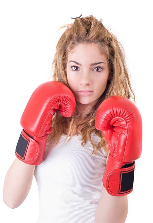 Kickboxing dziewczyna zdjęcie royalty free