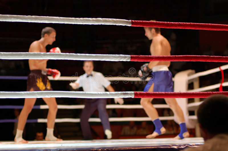 Kickboxing fight stock image