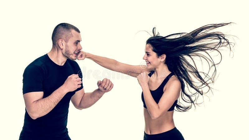 Kickboxing Training With Instructor Stock Photo - Image of ...