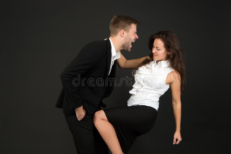 Sexy kick in the balls