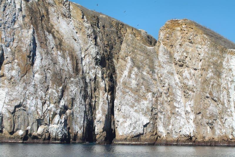 Kicker Rots (Leon-dormido) in het eiland van San Cristobal stock foto