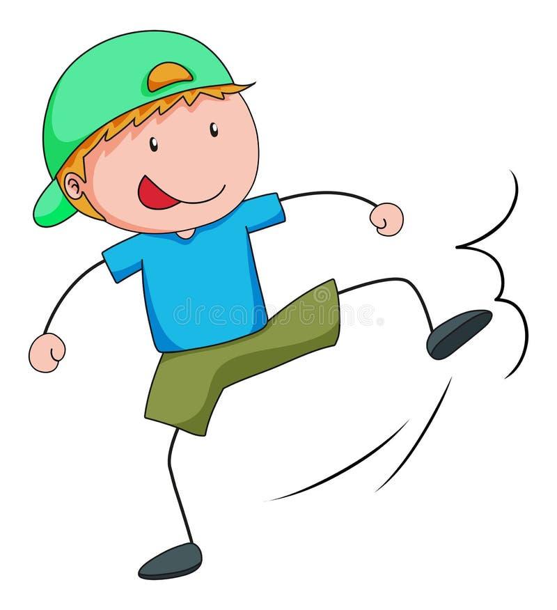 kicking libre illustration