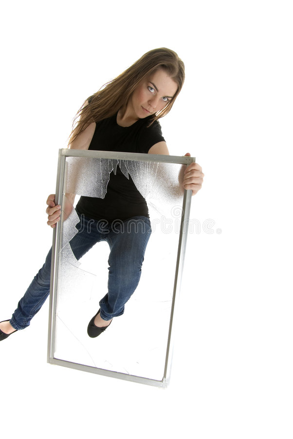 Download Kicking Through Glass Ceiling Stock Image - Image of barrier, female: 9223217