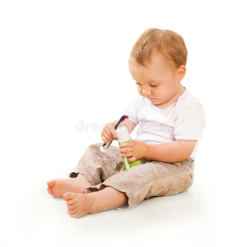Download The kid stock image. Image of small, medicine, thinking - 11798529