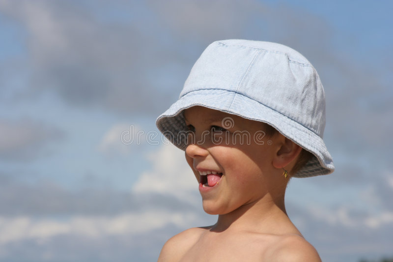 Kid. A kid in summertime stock image