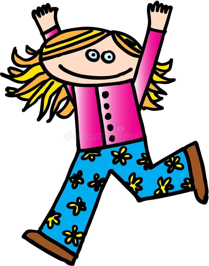 Kid. Happy little girl. vector image stock illustration