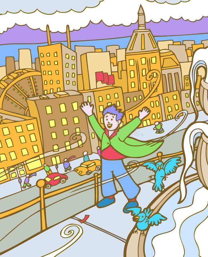 Download Kid Adventures: Windy City Stock Photos - Image: 9382953