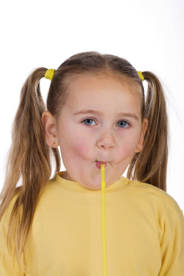 Free Kid And A Straw Stock Image - 1650211