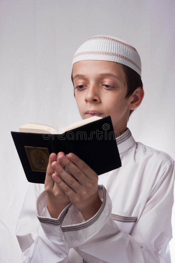 Kid in arabic clothes royalty free stock images