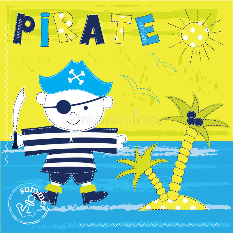 Free Kid Background With Pirate Stock Photo - 59472340