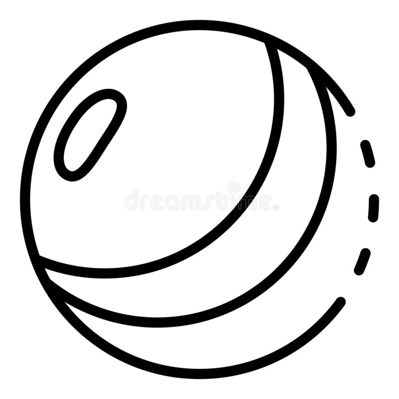 Kid ball icon, outline style. Kid ball icon. Outline kid ball vector icon for web design isolated on white background royalty free illustration