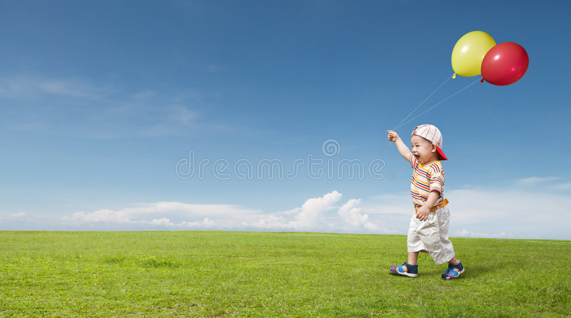 Download Kid and balloon stock photo. Image of outdoors, child - 8659944