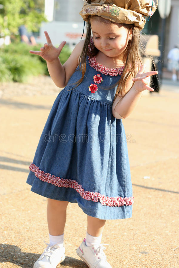 Kid Being Cool... Love Gesture. stock photography
