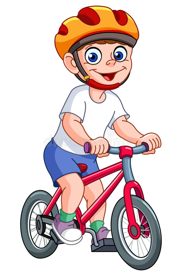 Kid on bicycle vector illustration