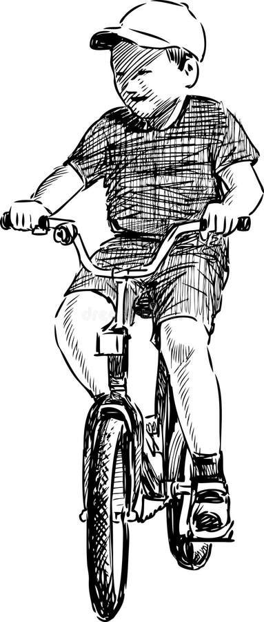 Kid On Bike Stock Photos