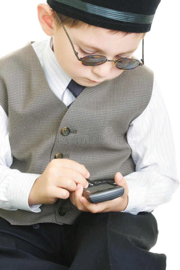 Download Kid Busy With Palm Computer And Stylus Royalty Free Stock Images - Image: 13057569