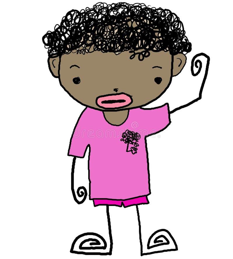 Kid cartoon 08 stock illustration