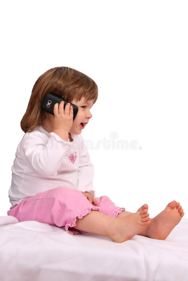 Download Kid on Cell Phone stock photo. Image of childhood, network - 9421844