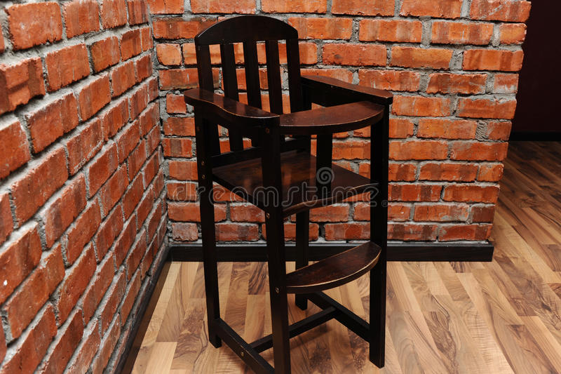 Kid Chair. Isolated wooden kid chair with black colour royalty free stock images