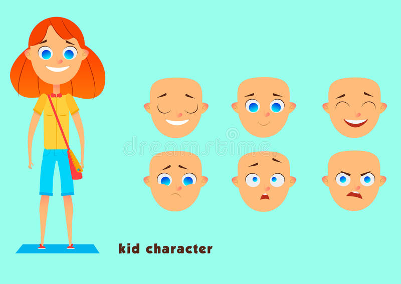 Kid character stock image