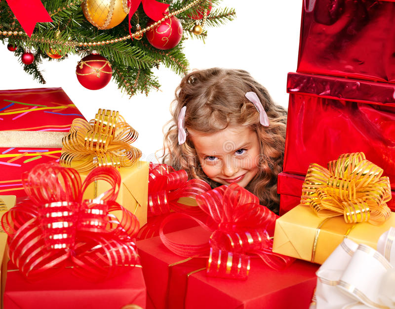 Download Kid With Christmas Gift Box. Stock Photo - Image: 22146816