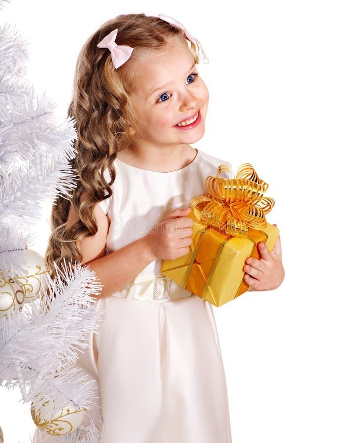 Kid with Christmas gift box.
