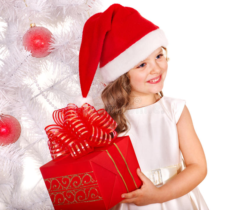 Download Kid With Christmas Gift Box. Stock Image - Image: 22220721
